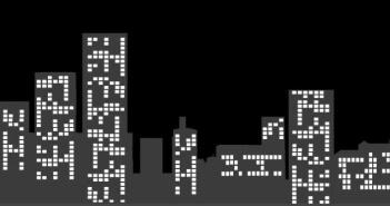 Das Bild zeigt die eine abstrahierte Skyline mit Hochhäusern einer Stadt.