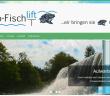 Das Foto zeigt einen Wasserfall und trägt den Schriftzug Hydro-Fischlift.